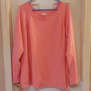 Sonoma Super Soft Melon Sweater